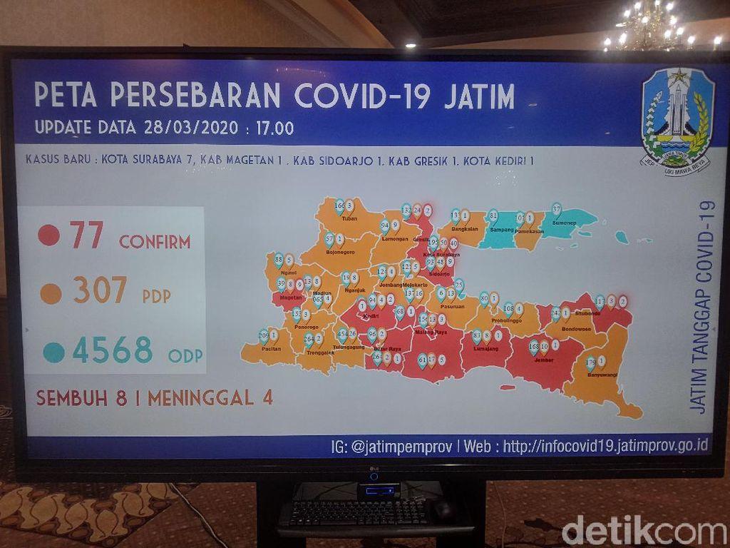 Ini Peta Terbaru Sebaran Virus Corona di Jawa Timur