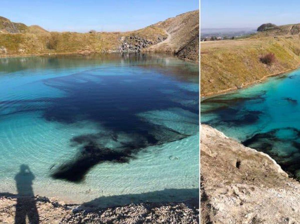 Halau Turis, Polisi Siram Laguna Cantik Ini dengan Cat Hitam