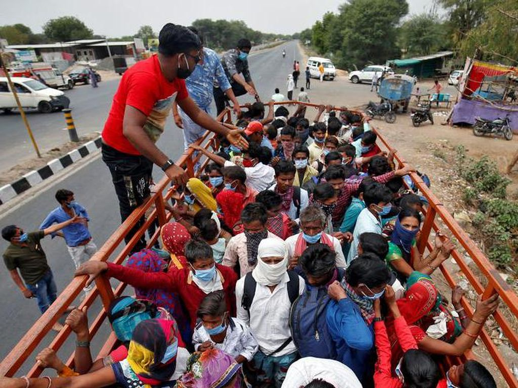 Setelah Lockdown Diberlakukan Secara Nasional, Situasi di India Kacau Balau