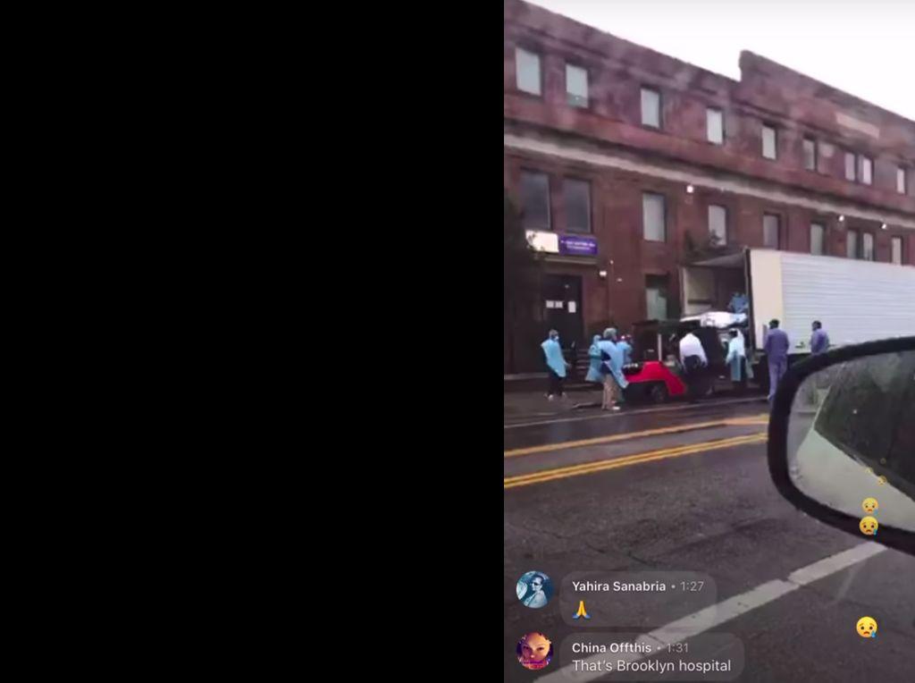 Viral Video RS di New York Angkut Jenazah Pasien Corona ke Truk Pendingin