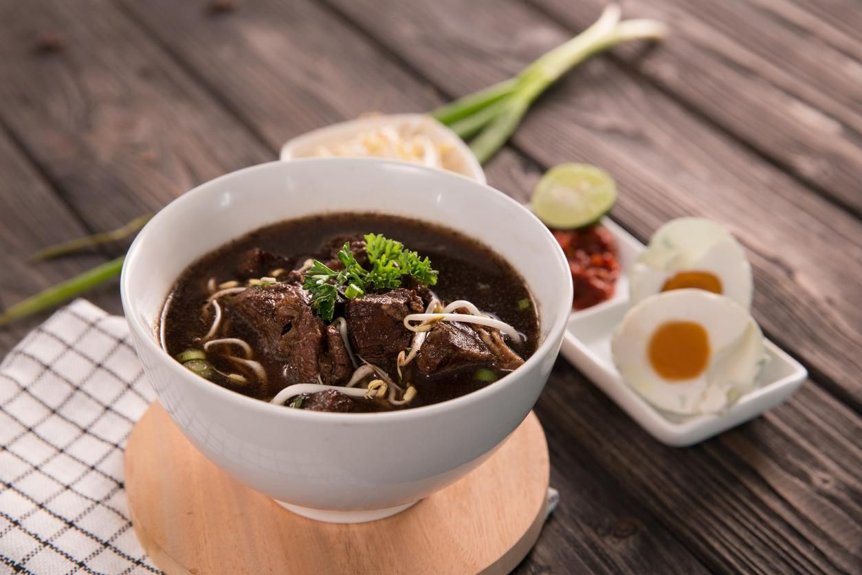 Rawon. traditional Indonesian beef black soup culinary