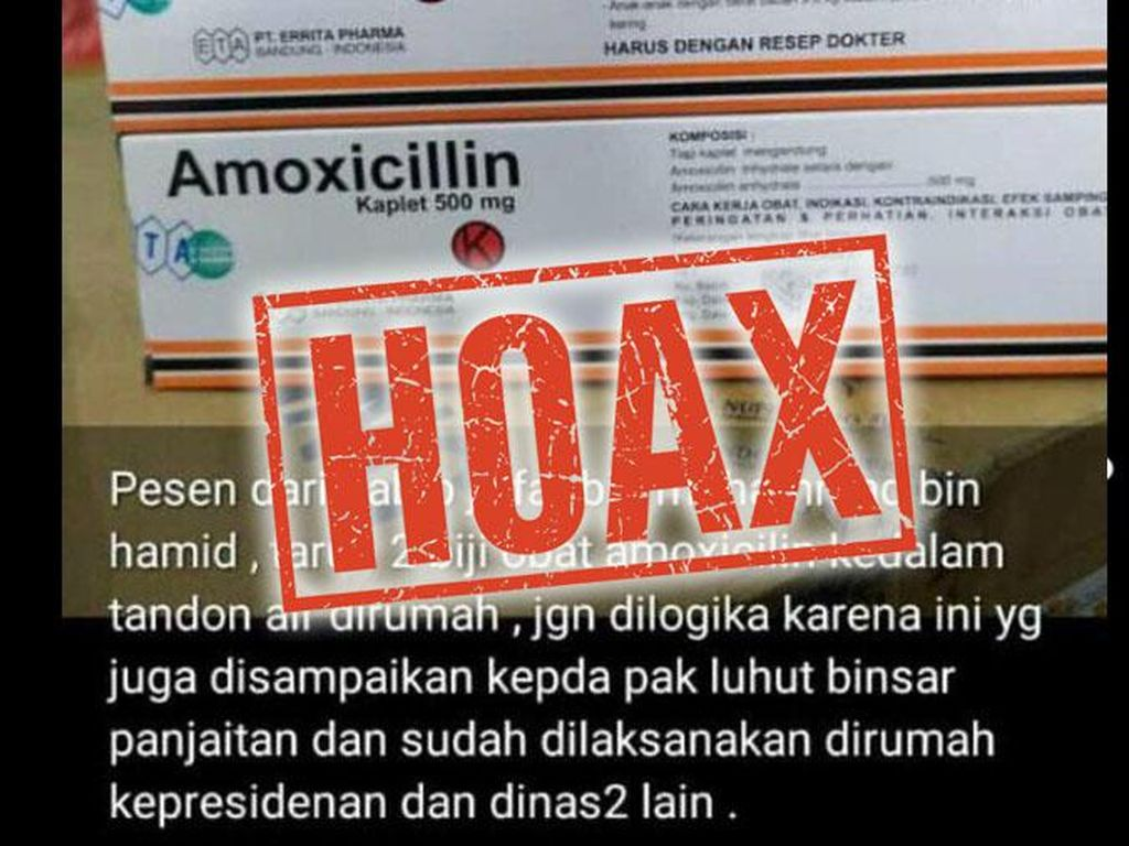 Viral Amoxicillin Bisa Bunuh Virus Corona, Dipastikan Hoax!