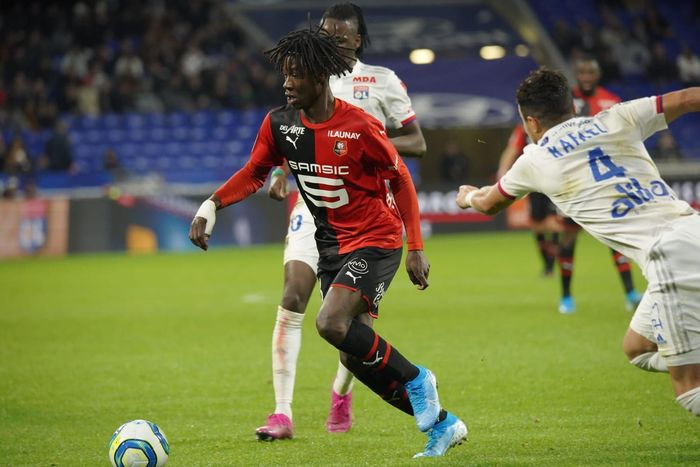 Eduardo Camavinga saat bermain untuk Rennes