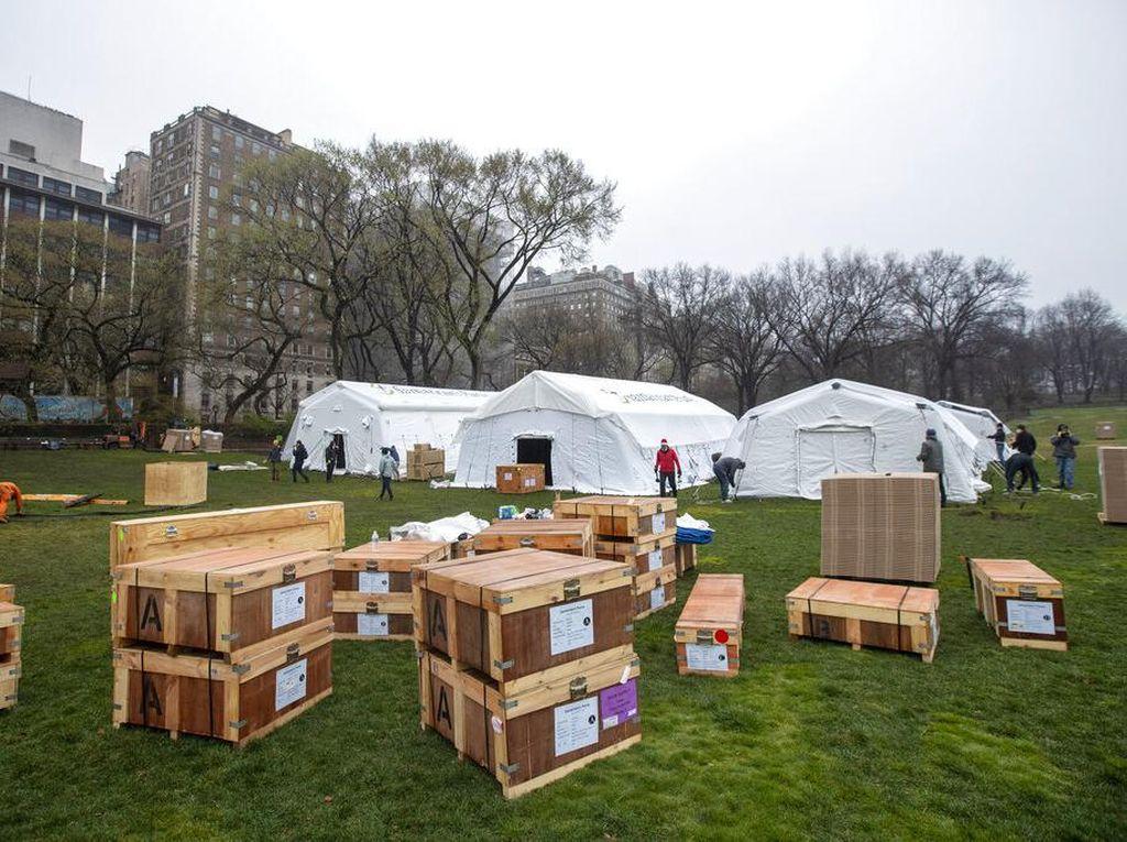 Rumah Sakit Darurat Corona Berdiri di Central Park New York