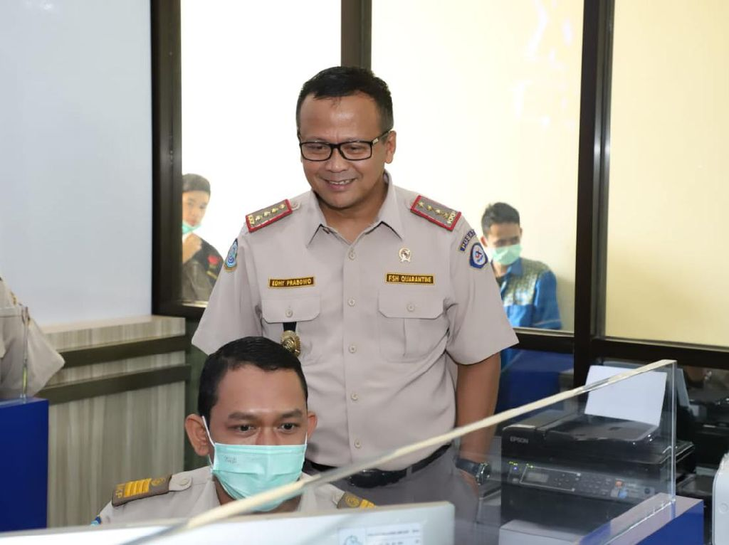 Inspeksi Balai KPIM Tanjung Priok, Edhy Prabowo Minta Ubah Perizinan