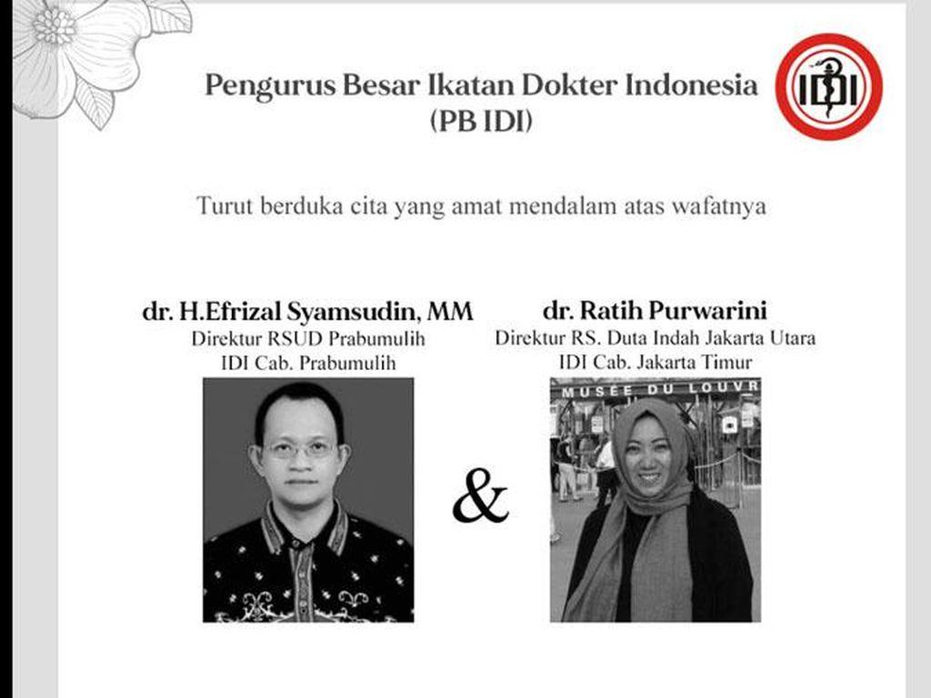 IDI Sebut 12 Dokter Indonesia Meninggal Selama Pandemi Corona