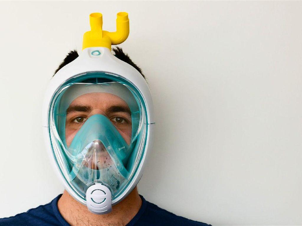 Italia Manfaatkan Masker Snorkeling Jadi Ventilator Darurat
