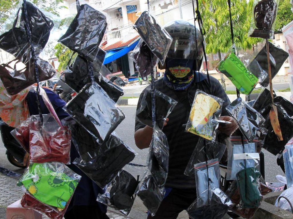 Bikers Pakai Masker Kain Efektif Tangkal Corona saat PSBB?