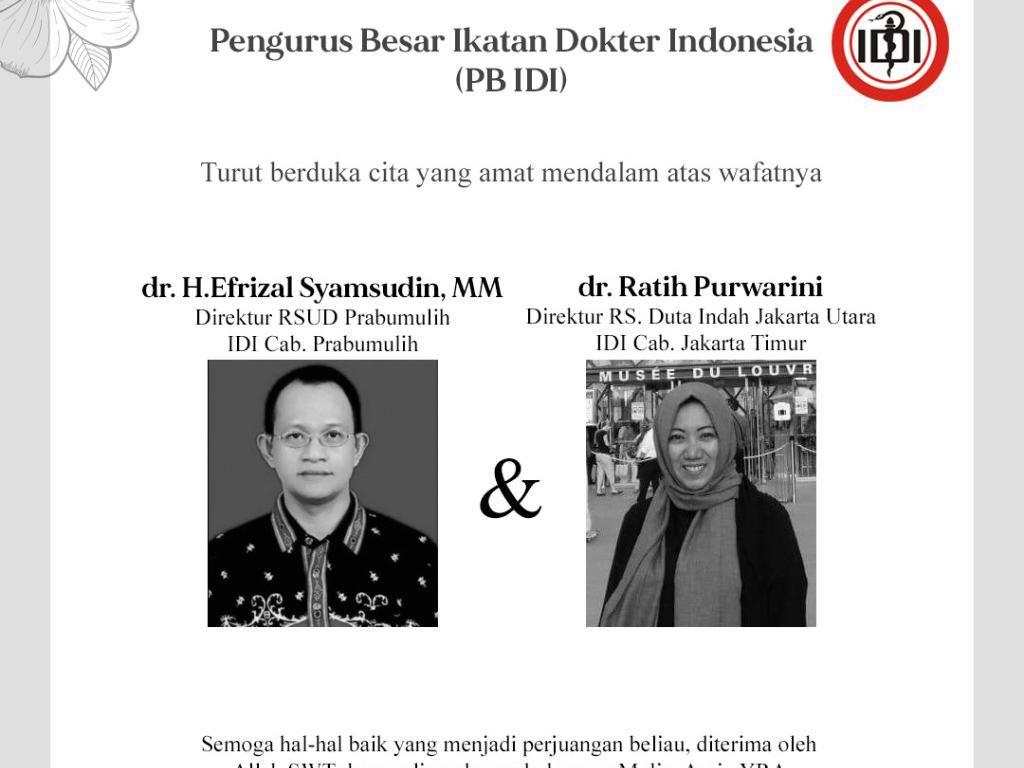 Dua Lagi Dokter Indonesia Meninggal karena Corona