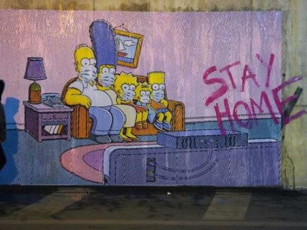 Deretan Mural Ini Ajak Warga Dunia Bersatu Lawan Corona