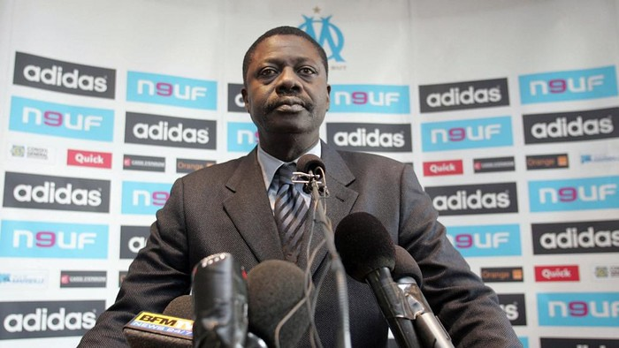 (FILES) This file photo taken on March 23, 2007 in Marseille shows former president of Marseille football club