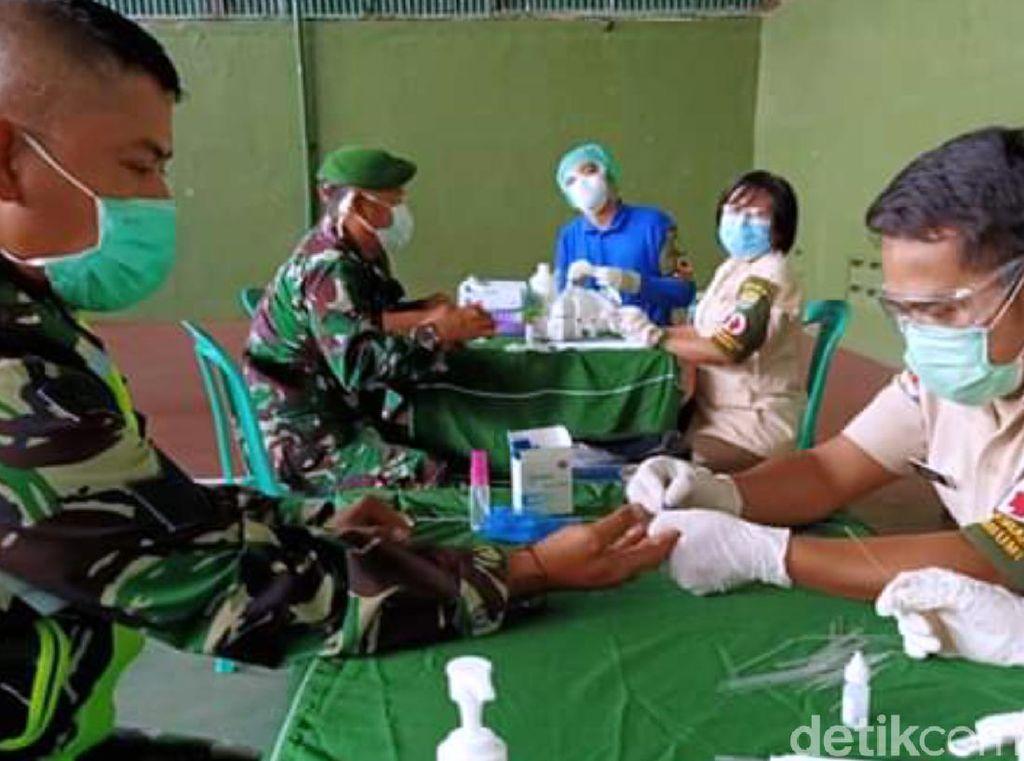 Jalani Rapid Test, 372 Personel Kodim Sukabumi Negatif Corona