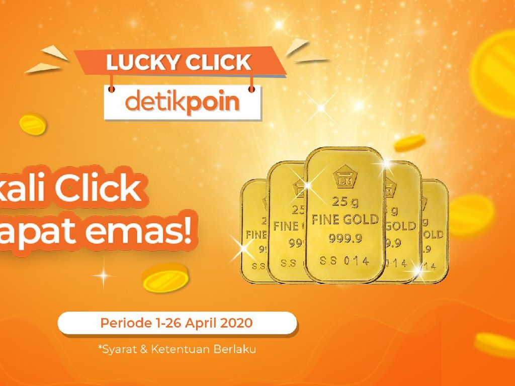Siap-siap, Pemenang Hadiah Emas 25 Gram Program Lucky Click Segera Dipilih!