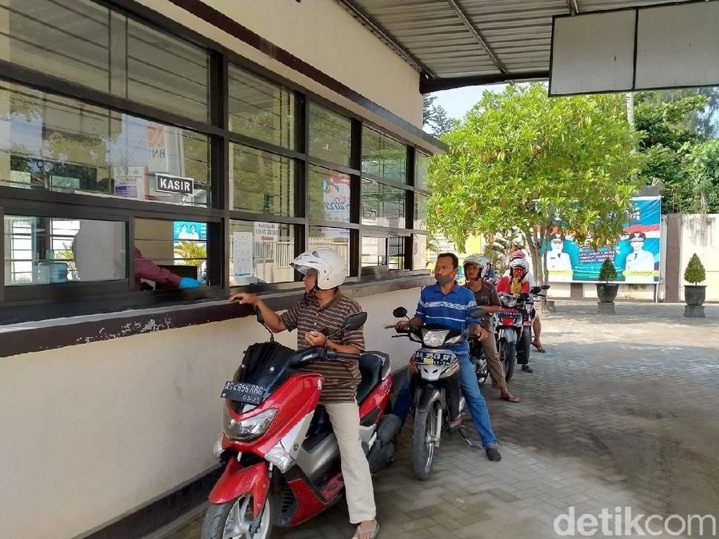 Cegah Penyebaran Corona, Samsat Tulungagung Maksimalkan Layanan Drive Thru