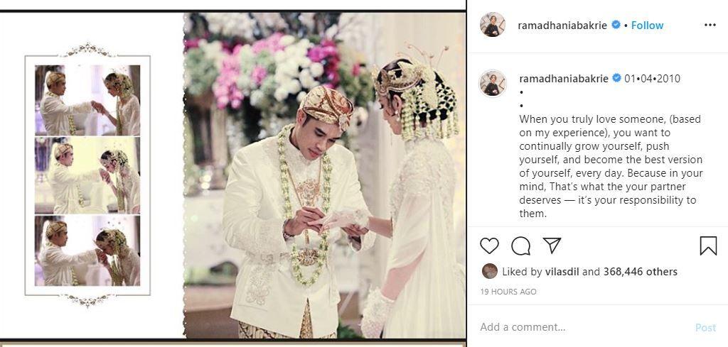 Ultah ke-10 Pernikahan, Surat Cinta Ardi Bakrie Bikin Nia Ramadhani Nangis