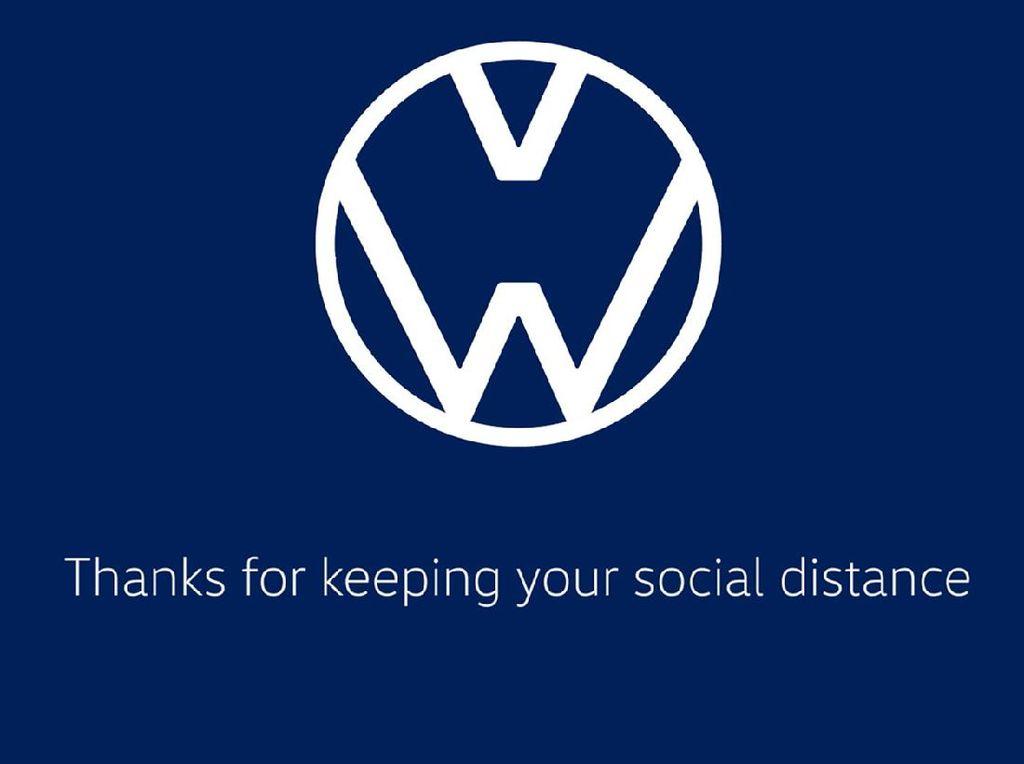 Uniknya Logo VW dan Audi yang Jaga Jarak karena Social Distancing