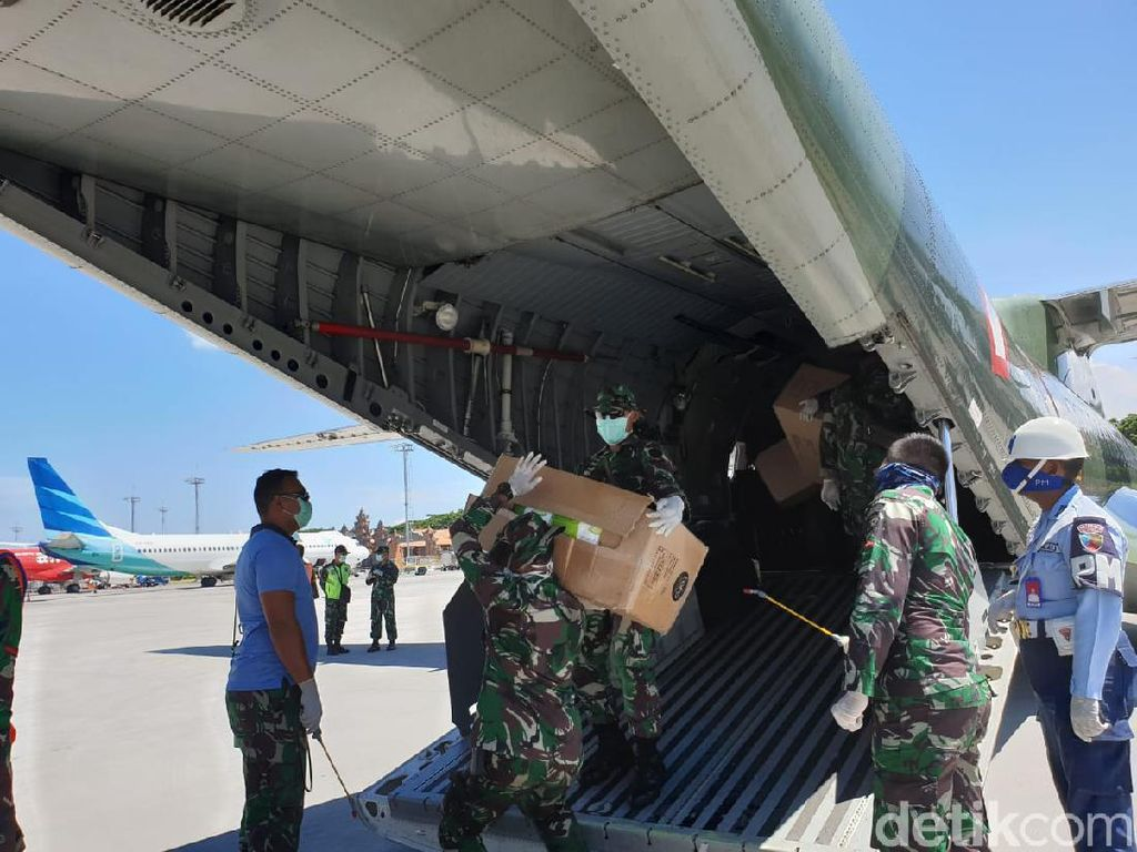 7.500 APD dan 37.500 Masker untuk Penanganan Corona Tiba di Bali