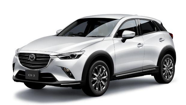 New Mazda CX-3 facelift tampak depan dan samping