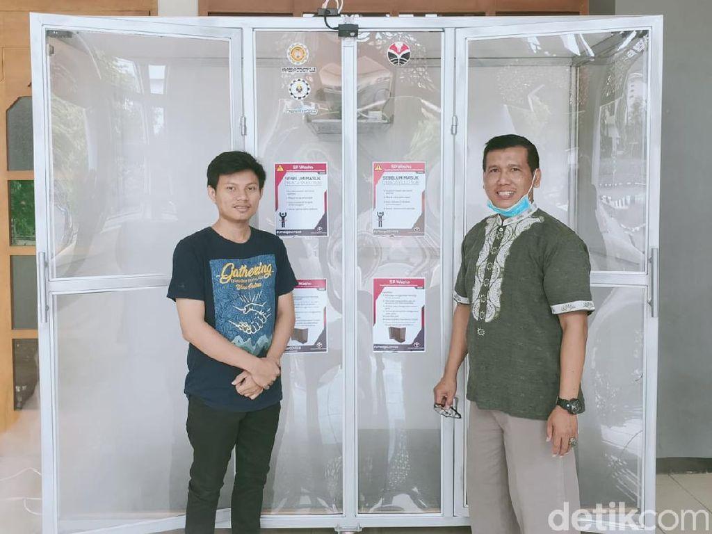Keren, UPI Bandung Buat Dual Bilik Disinfektan Otomatis