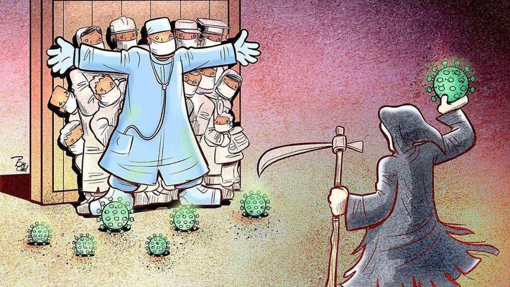 10 Ilustrasi Perjuangan Tenaga Medis Lawan Virus Corona, Bikin Terenyuh