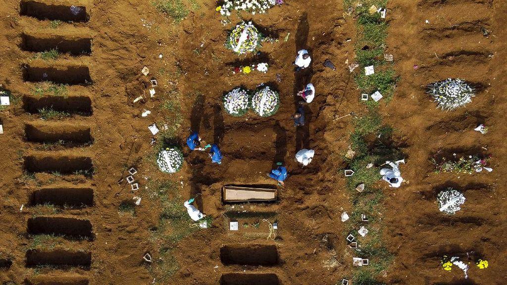 Potret Kuburan Massal Jenazah Khusus Corona di Brasil