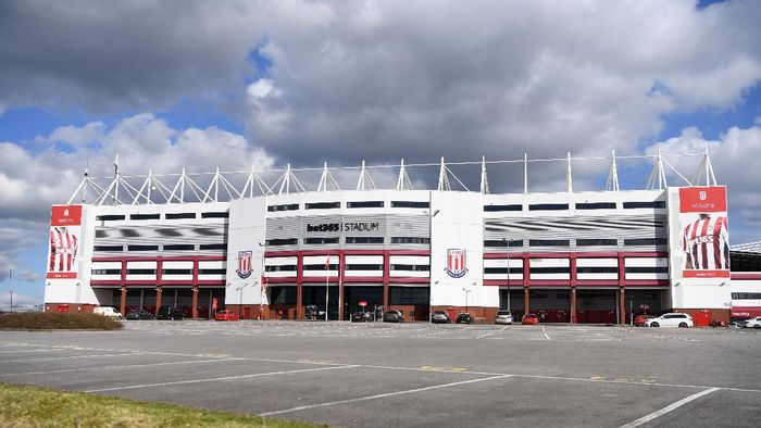STOKE ON TRENT, ENGLAND - MARCH 20: General view of the Bet365 Stadium, home of Stoke City on March 20, 2020 in Stoke on Trent, England. (Photo by Gareth Copley/Getty Images)