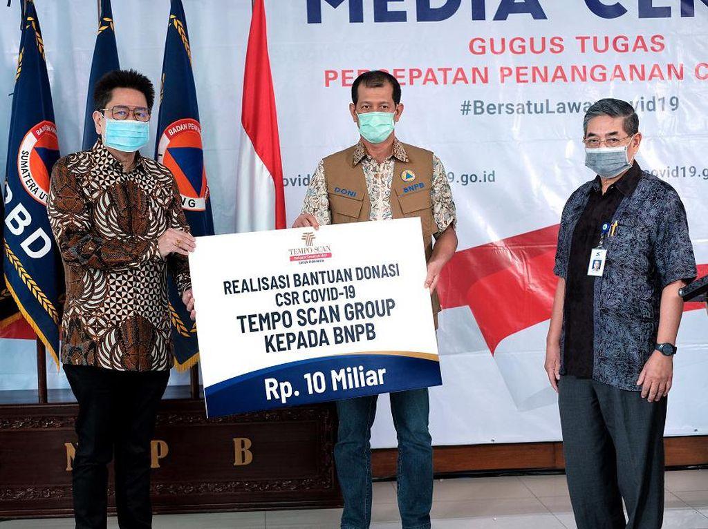 Tempo Scan Group Salurkan Rp 10 M ke BNPB untuk Penanganan Corona