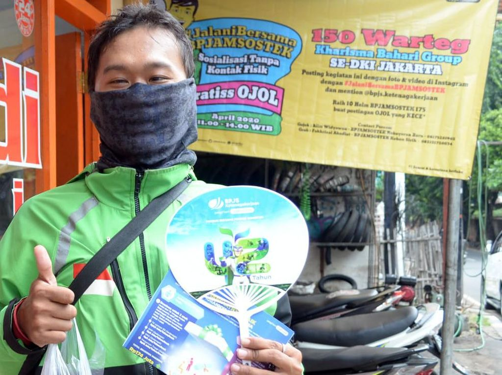 BPJAMSOSTEK Gaet Pengusaha Warteg Sediakan Makan Gratis untuk Ojol