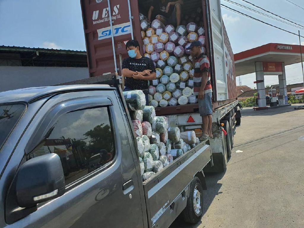 Penyelundupan Ribuan Rol Kain Impor Senilai Rp 1 M di Klaten Digagalkan