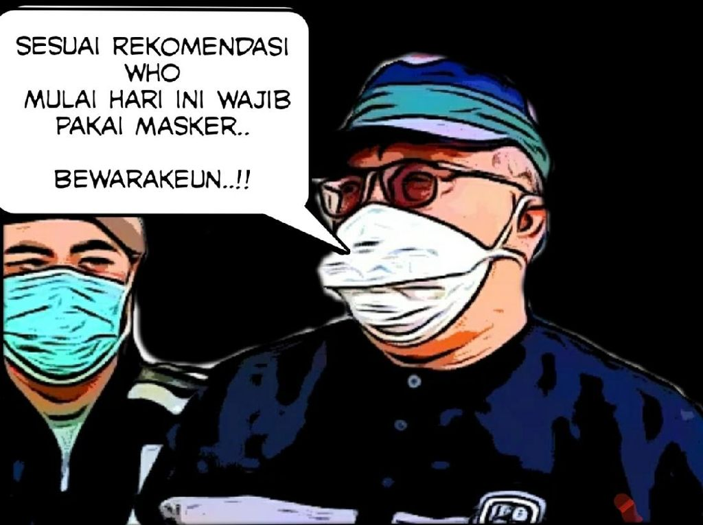Bupati Sukabumi Ajak Warga Patuhi Rekomendasi WHO soal Pemakaian Masker