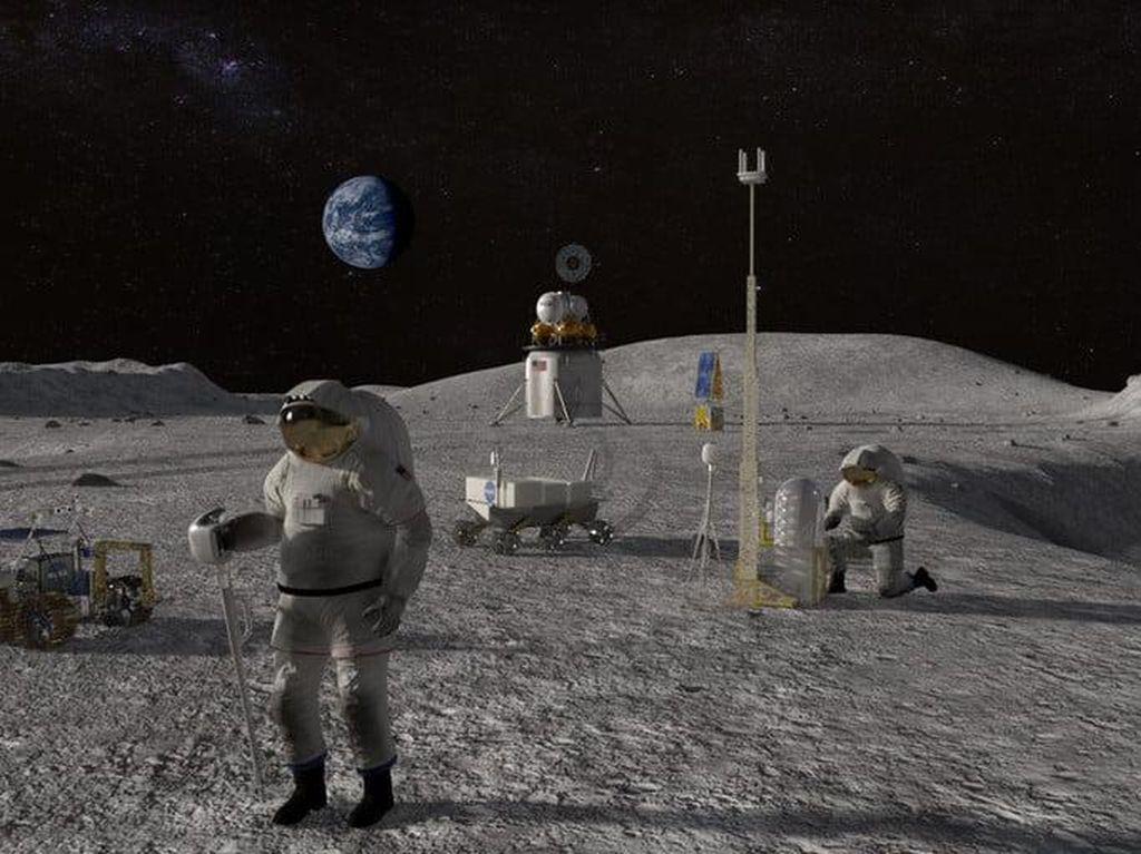 Bahaya Radiasi 200 Kali Lipat Ancam Astronaut di Bulan