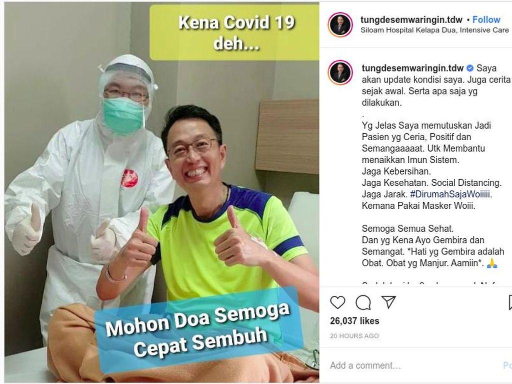 Tung Desem Berbagi Tips Agar Sembuh Usai Divonis Positif Corona