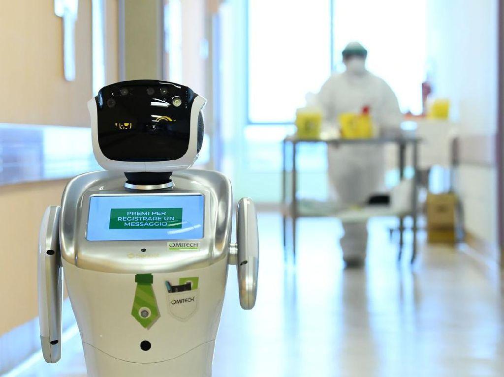 Robot Bakal Wira-wiri di RS Bantu Tenaga Medis