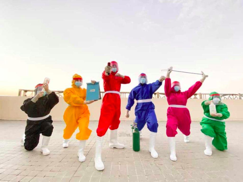 Foto: Variasi APD Lucu, Teletubbies hingga Power Rangers