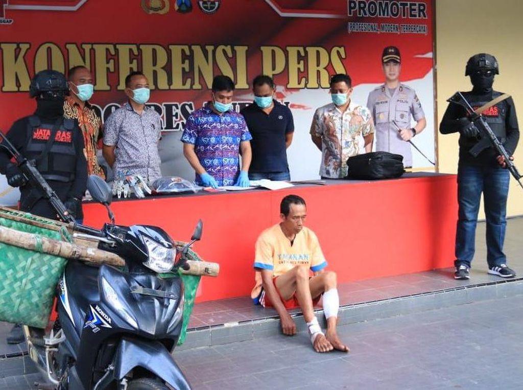 Residivis Spesialis Pembobolan Rumah Dihadiahi Timah Panas Saat Ditangkap