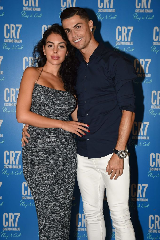 TURIN, ITALY - SEPTEMBER 12: Cristiano Ronaldo and Georgina Rodriguez celebrate the launch of new CR7 Play It Cool with friends and family on September 12, 2019 in Turin, Italy. (Photo by Tullio M. Puglia/Getty Images for CR7 Play It Cool)