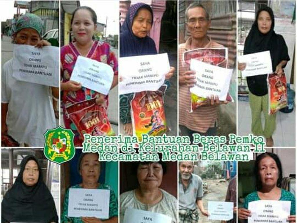 Penerima Bantuan Pose Orang Tidak Mampu, Pemko Medan: Camat Sudah Ditegur