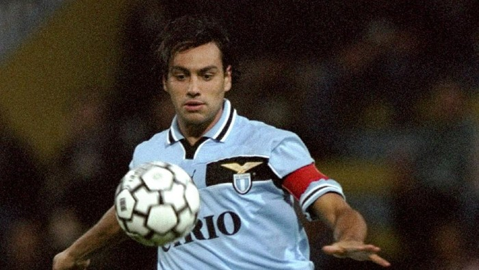 26 Sep 1999:  Alessandro Nesta of Lazio in action during the Serie A match between Parma and Lazio played at the  Stadio Ennio Tardini, Parma, Italy. The game finished in a 2-1 win for the visitors Lazio.  Mandatory Credit: Claudio Villa /Allsport
