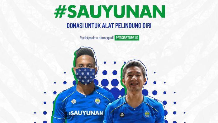 Persib Bandung menggalang dana untuk alat pelindung diri tenaga medis.