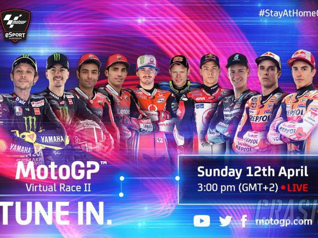 MotoGP Virtual Digelar Lagi, Sekarang Rossi Ikutan