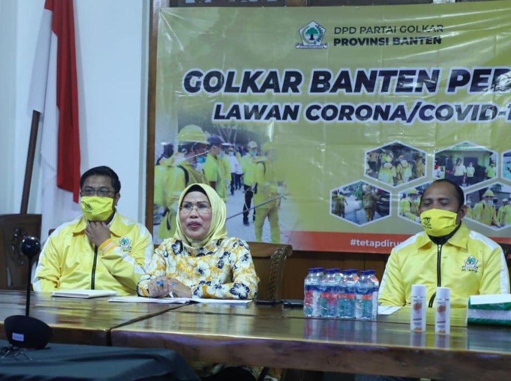 Ragam Cara DPD Golkar Bantu Pemprov Banten Tangani Corona