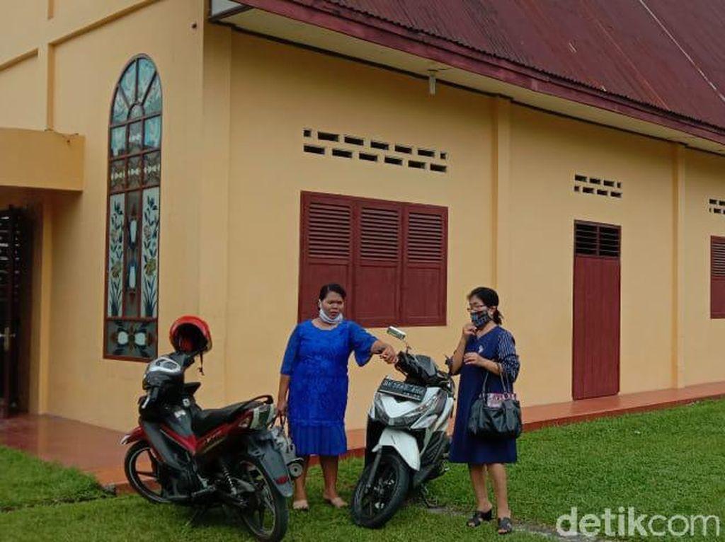 Gereja di Deli Serdang Tetap Gelar Ibadah Jumat Agung, Jemaat Jaga Jarak