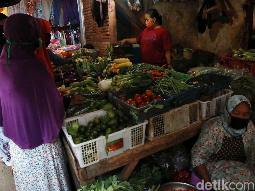 PSBB di Depok, Operasional Pasar Tradisional Dibatasi hingga Pukul 15.00 WIB