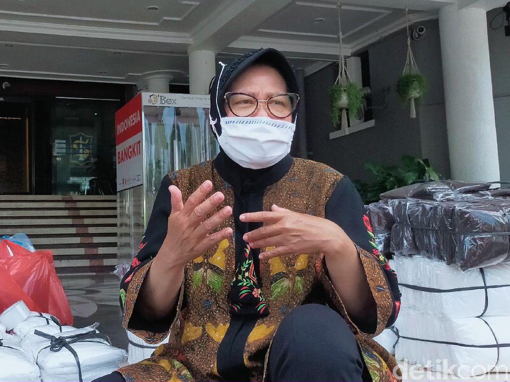 Walkot Risma Ungkap Strategi dari Penurunan Kasus COVID-19 di Surabaya