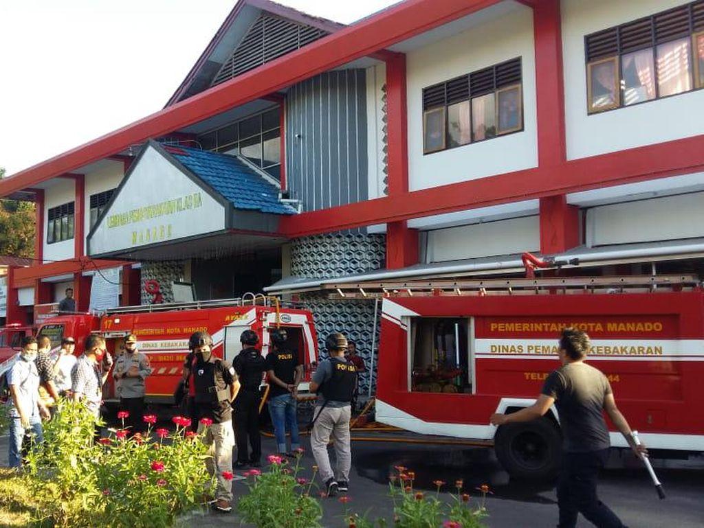 Lapas di Manado Terbakar, Damkar-Water Cannon Meluncur ke TKP