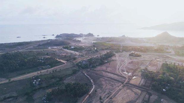 Progres pembangunan Sirkuit Mandalika untuk MotoGP Indonesia.