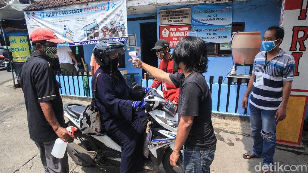 Warga Cipadu Tangerang Perketat Pemeriksaan Corona
