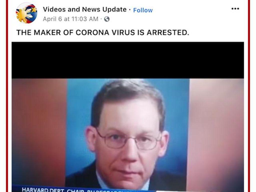 Viral Ilmuwan Pembuat Virus Corona Ditangkap, Hoax or Not?