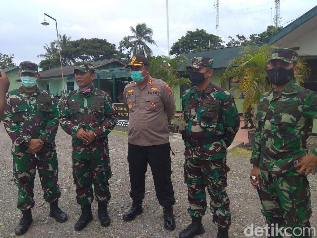 Redam Dampak Bentrokan di Membramo, Jajaran TNI-Polri di Timika Apel Bareng