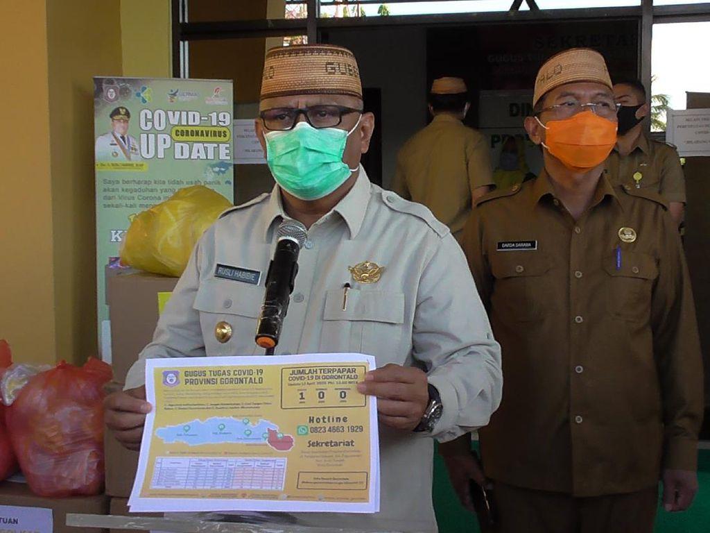 Gubernur Gorontalo Bagi-bagi Sembako Berujung Dipolisikan